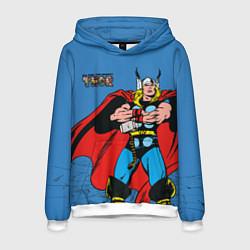 Толстовка-худи мужская All hail the mighty Thor цвета 3D-белый — фото 1