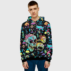 Толстовка-худи мужская Monsters Rick and Morty цвета 3D-черный — фото 2