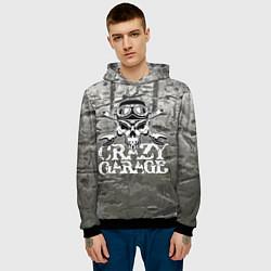 Толстовка-худи мужская Crazy garage цвета 3D-черный — фото 2