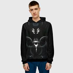Толстовка-худи мужская Hollow Knight цвета 3D-черный — фото 2