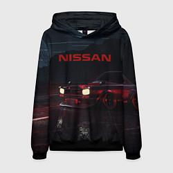 Толстовка-худи мужская NISSAN цвета 3D-черный — фото 1