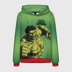 Толстовка-худи мужская Hulk цвета 3D-красный — фото 1