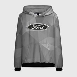 Толстовка-худи мужская Ford чб цвета 3D-черный — фото 1