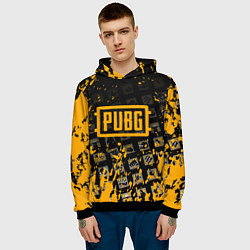 Толстовка-худи мужская PUBG цвета 3D-черный — фото 2