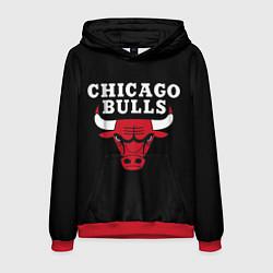 Толстовка-худи мужская CHICAGO BULLS цвета 3D-красный — фото 1