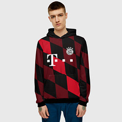 Толстовка-худи мужская ФК Бавария Мюнхен цвета 3D-черный — фото 2