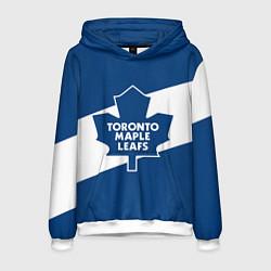 Толстовка-худи мужская Торонто Мейпл Лифс цвета 3D-белый — фото 1