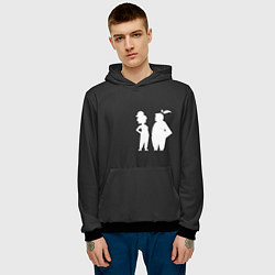 Толстовка-худи мужская It Takes Two Silhouette цвета 3D-черный — фото 2
