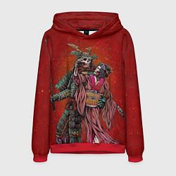 Толстовка-худи мужская Скелеты цвета 3D-красный — фото 1
