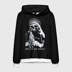 Толстовка-худи мужская BMTH: Skull Pray цвета 3D-белый — фото 1