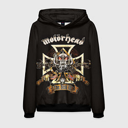 Толстовка-худи мужская Motorhead: The best of цвета 3D-черный — фото 1