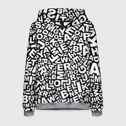 Толстовка-худи мужская Английский алфавит цвета 3D-меланж — фото 1