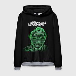 Толстовка-худи мужская Chemical Brothers: Acid lines цвета 3D-меланж — фото 1