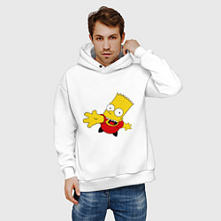 Толстовка оверсайз мужская Simpsons 8 цвета белый — фото 2