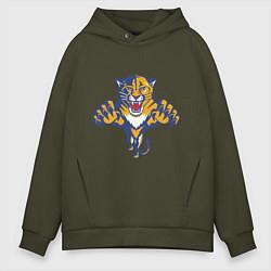 Толстовка оверсайз мужская Florida Panthers цвета хаки — фото 1