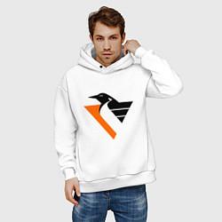 Толстовка оверсайз мужская Pittsburgh Penguins цвета белый — фото 2