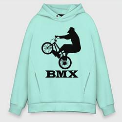 Толстовка оверсайз мужская BMX цвета мятный — фото 1