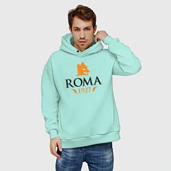 Толстовка оверсайз мужская AS Roma 1927 цвета мятный — фото 2
