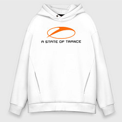 Толстовка оверсайз мужская A State of Trance цвета белый — фото 1