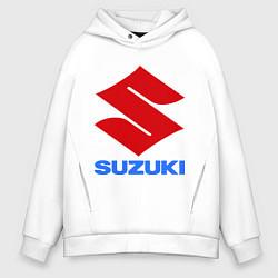 Толстовка оверсайз мужская Suzuki цвета белый — фото 1