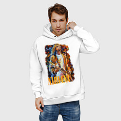Толстовка оверсайз мужская Cobain Art цвета белый — фото 2