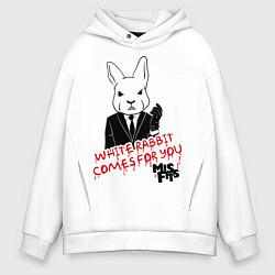 Мужское худи оверсайз Misfits: White rabbit