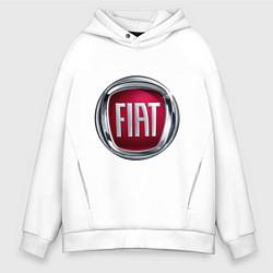 Толстовка оверсайз мужская FIAT logo цвета белый — фото 1