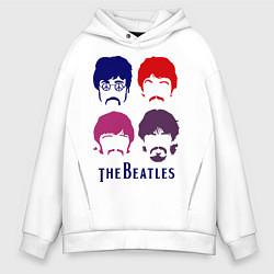 Мужское худи оверсайз The Beatles faces