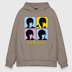 Мужское худи оверсайз The Beatles: pop-art