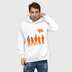 Толстовка оверсайз мужская Misfits Orange цвета белый — фото 2