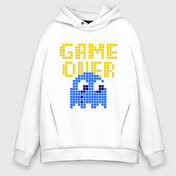 Толстовка оверсайз мужская Pac-Man: Game over цвета белый — фото 1