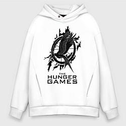 Толстовка оверсайз мужская The Hunger Games цвета белый — фото 1