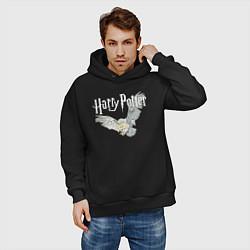 Толстовка оверсайз мужская Гарри Поттер: Букля цвета черный — фото 2