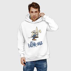 Толстовка оверсайз мужская BLINK-182 цвета белый — фото 2