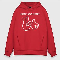 Толстовка оверсайз мужская Brazzers цвета красный — фото 1