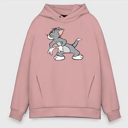 Толстовка оверсайз мужская Angry Tom цвета пыльно-розовый — фото 1