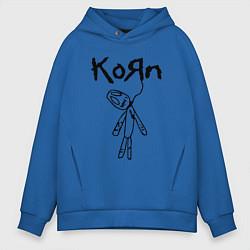 Толстовка оверсайз мужская Korn цвета синий — фото 1