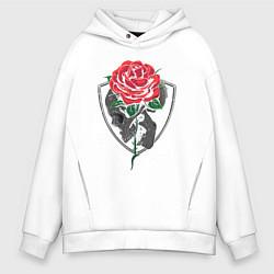 Толстовка оверсайз мужская Skull&Rose цвета белый — фото 1