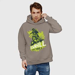 Толстовка оверсайз мужская Downhill цвета утренний латте — фото 2
