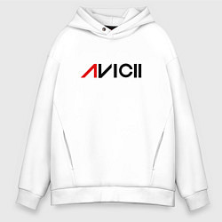 Толстовка оверсайз мужская Avicii цвета белый — фото 1