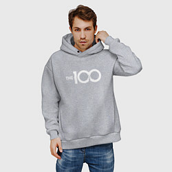 Толстовка оверсайз мужская The 100 цвета меланж — фото 2