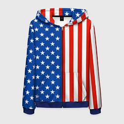 Толстовка 3D на молнии мужская American Patriot цвета 3D-синий — фото 1