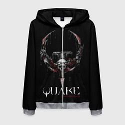 Толстовка 3D на молнии мужская Quake Champions цвета 3D-меланж — фото 1