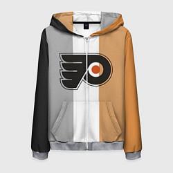 Толстовка 3D на молнии мужская Philadelphia Flyers цвета 3D-меланж — фото 1