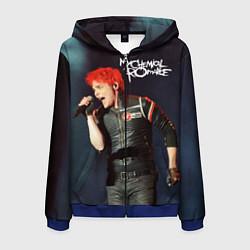 Толстовка 3D на молнии мужская Gerard Way цвета 3D-синий — фото 1