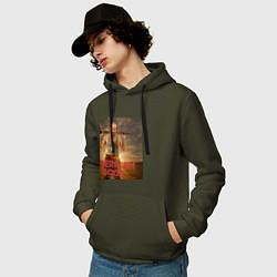 Толстовка-худи хлопковая мужская American Gods: Czernobog цвета хаки — фото 2