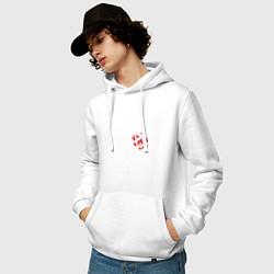 Толстовка-худи хлопковая мужская Кукрыниксы цвета белый — фото 2