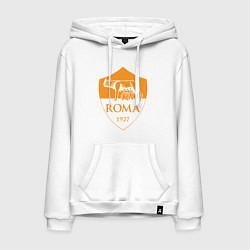 Толстовка-худи хлопковая мужская AS Roma: Autumn Top цвета белый — фото 1