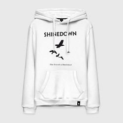 Толстовка-худи хлопковая мужская Shinedown: Sound of Madness цвета белый — фото 1