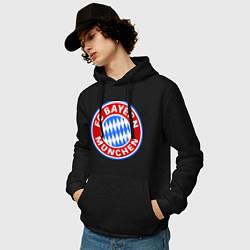 Толстовка-худи хлопковая мужская Bayern Munchen FC цвета черный — фото 2
